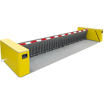 Road blocker surface mounted with built-in hydraulic pump