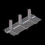 3 set fixed bollards module