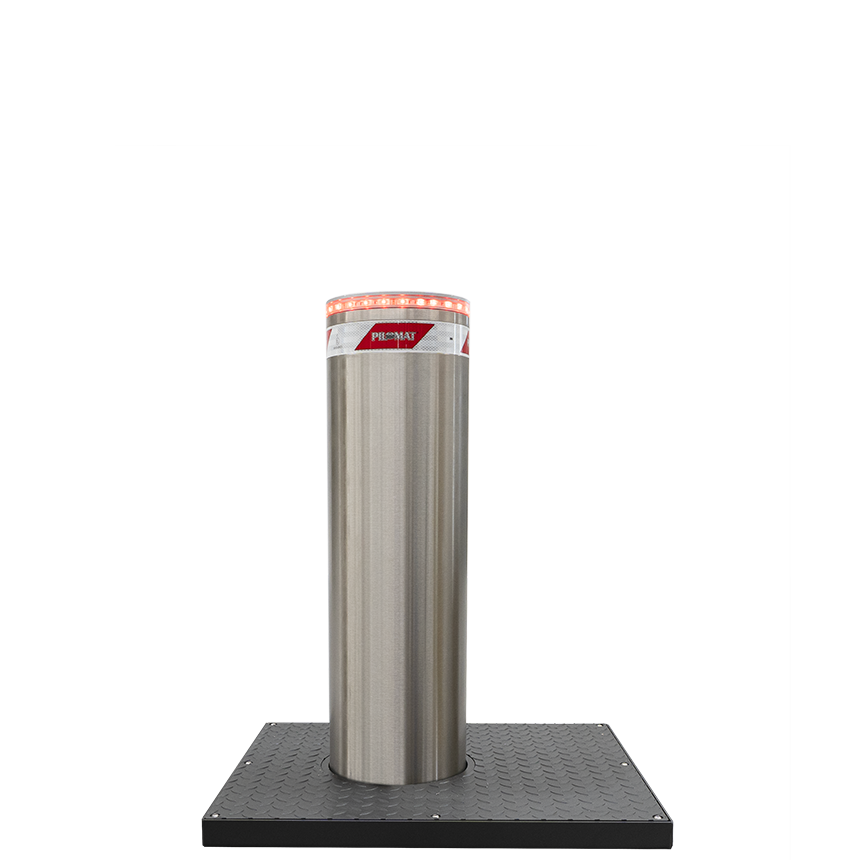 Semi-automatic bollard with diameter 275mm and height 900mm