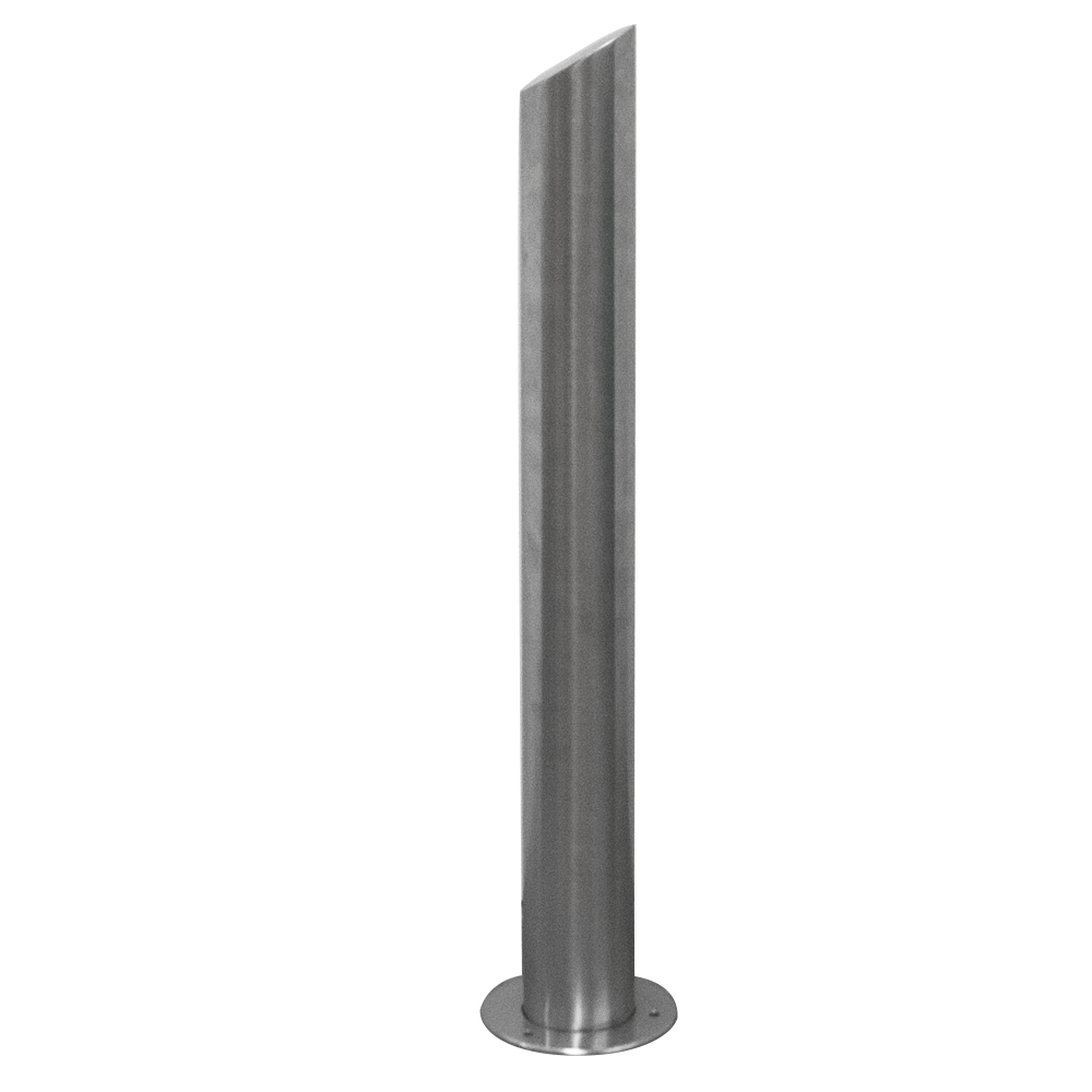 fixed design bollard with inclined top